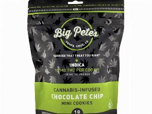 Indica Chocolate Chip Cookies 10 Pack - 100mg, Big Pete's