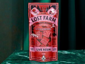 Lost Farm Chews Strawberry - 100mg, KIVA